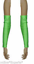 Green lime uv FLO néon lycra arm warmers gant gant mitaines club party G7