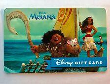 WALT DISNEY MOANA Movie GIFT CARD, HAWAII, DISNEYLAND