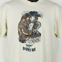Rustlers Rooste T Shirt Vintage 80s Horny Bull South Mountain Made In USA Large