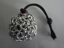 Small Silver Chainmaille Chainmail Dice Bag Pouch Coin Purse RPG D&D DND LARP 5e