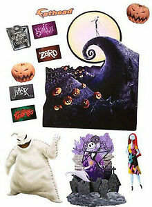 Nightmare Before Christmas Fathead Wall Stickers - 12 Vinyl Decals - New