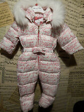 BNWT BABY GIRLS MOSCHINO SNOWSUIT AGE 6-9 MONTHS TAG PRICE £258