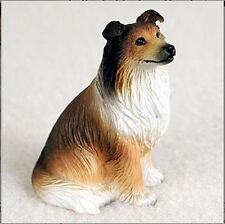 Collie Collectible Mini Resin Hand Painted Dog Figurine Sable