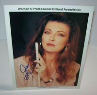 Jan McWorter Women's Professional Billiard Signed Autograph Photo Pool Vintage