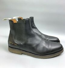 COMMON PROJECTS Chelsey Boots Size 42 US 9 Men's Black Leather Ankle Shoes