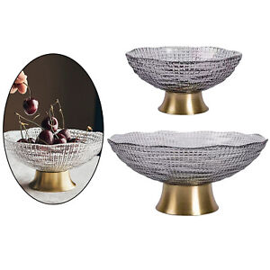 Glass Fruit Bowl Dish Desserts Snack Candy Bowl Kitchen Serving Tray