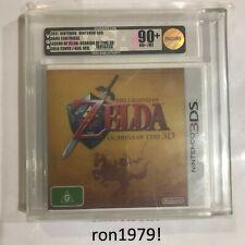Legend Of Zelda Ocarina Of Time 3DS VGA GOLD Graded 90+ Gold Foil Cover Edition