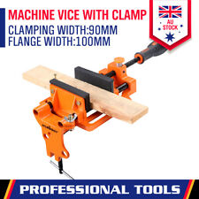 Quick Release Clamp Jaw 90m Drill Press Bench Vice Soft Grip Hand Pads Woodwork