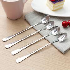 2pc Stainless Steel Healthy Coffee Ice Cream Desert Stirring Long Spoon Ladle