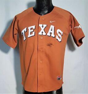 Roger Clemens Signed Texas Longhorns Orange M Baseball Jersey Astros JSA J58054