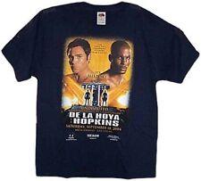 NEW! Oscar De La Hoya vs. Bernard Hopkins, 2004 Boxing T Shirt, LARGE