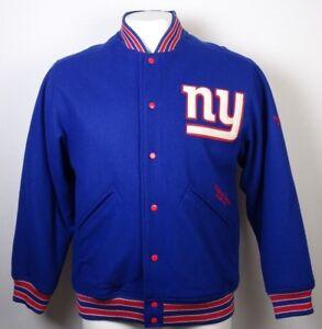 NY Giants Reebok Men's Wool Snap Up Jacket NFL L