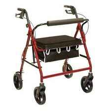 Probasics Big & Tall Rolling Walker Rollator with Seat Back