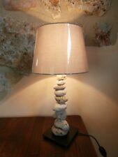 Tisch Lampe Stehlampe Abatjour Stein shabby chic Meer Maritim natur Unikat Deko
