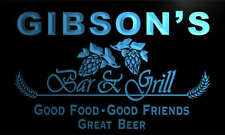 pr1116-b Gibson's Bar & Grill Beer Wine Neon Light Sign