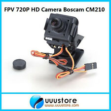 FPV Boscam Cm210 720p Hd Mini camera with Nylon Ptz Pan Tilt camera And Servo