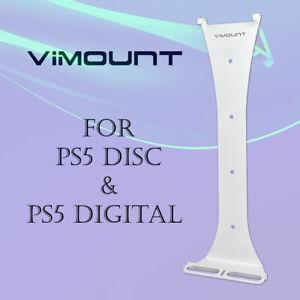 PlayStation 5 PS5 Disc & Digital White Wall Mount Bracket Metal Holder - ViMount