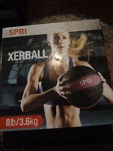 SPRI Xerball Medicine Ball Thick Walled Heavy Duty Textured Surface- 8 Pound