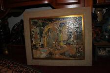 Vintage Decoupage Artwork Painting-L Wilkinson-Galeria San Miguel-El Patio-LQQK
