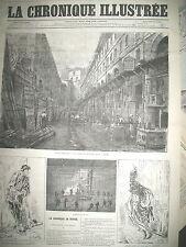 PARIS RUE DE RENNES LA COUR DU DRAGON FERRAILLEURS LA CHRONIQUE ILLUSTRéE 1869