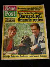 Neue post Nr 42, Okt. 1969 Prinz Charles / Heintje Peter Alexander / Onassis