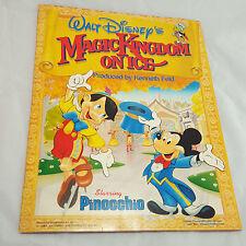 Vtg Disney Magic Kingdom on Ice Program Pinnochio 1987 Mickey Mouse Skating Show