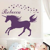 Girls Bedroom Unicorn Wall Decal Name Personalized Wall Sticker Home Decor