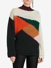 3967e60aa0f8e5 NEW Burberry Colorblock Geometric Sweater in Multi - Size XS #S0133
