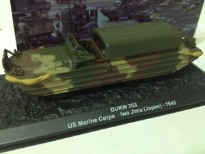 DUKW 353 US Marine Corps 1945 Amphibious WWII 1:72 Tank Altaya Diecast