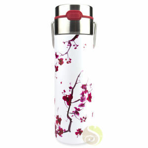 Bouteille isotherme cherry blossom Leeza gourde thermos nomade voyage
