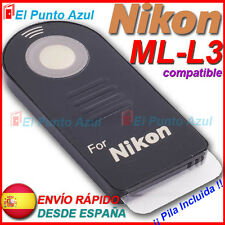 Mando Distancia NIKON ML-L3 ★D3400 D7500 D750 P900 P7700 P7100 P6000 1J2 1V2