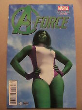 A-Force #1 Marvel Comics 2016 Series She-Hulk Cosplay Variant 9.6 Near Mint+