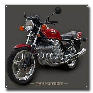 "1979 CBX 1000 Z SUPER SPORT MOTORCYCLE ART METAL SIGN - 12"" X 12"" - SUPER BIKES"
