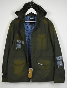 Desigual spellout allover hooded casual jacket Size M 50 on tag