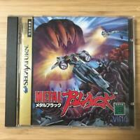 Metal Black Sega Saturn Japan Ving Taito Action Shooting Game Complete Used FS