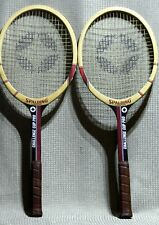 New listing Vintage Spalding Oversize Bow Challenge Cup Pro Wooden Tennis Rackets (PAIR)