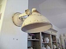 Vintage Lampe Wandlampe Strahler Industrie Stil Alt Weiß 31 x 21 cm Shabby Eisen