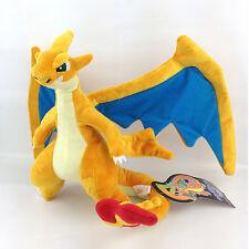 "Mega Charizard Y Pokemon Plush Lizardon Evolution Soft Toy Stuffed Animal 10"""