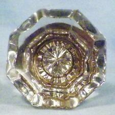 1 Antique Mercury Glass Door Knob Hexagon Victorian Architectural Salvage #8