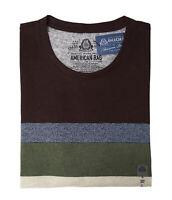 American Rag Men's Variegated Stripe T-Shirt (Rich Chocolate, L)