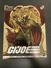 GI JOE Classified Series - Snake Supreme COBRA COMMANDER -exclusive IN HAND