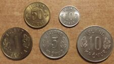 Iceland 1969 complete coin set UNC