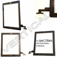 kFor ipad 2 Black Touch Screen Digitizer Glass Front Replacement Home Button