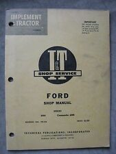 Ford 6000 Commander 6000  I&T tractor shop Service manual FO-22