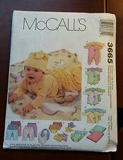 McCalls Pattern #3665 NB to L - UNCUT