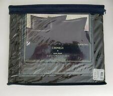 "NEW Cremieux Classic Twill Black One Euro Cotton Pillow Sham 26""x26"" NIP"