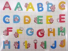 Japanese Piske & Usagi stickers by Kanahei! Kawaii ABC alphabet bunny & chick