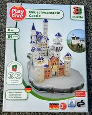 Playtive 3D Puzzle Neuschwanstein Castle 64 Pieces 8+