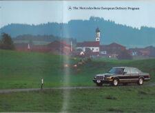 1983 MERCEDES BENZ EUROPEAN DELIVERY PROGRAM US 26p Brochure 190 & 300 Ranges
