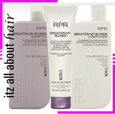 RPR BRIGHTEN MY BLONDE SHAMPOO & Conditioner & Treatment Trio Pack New Packaging